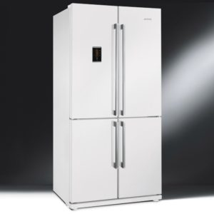 Smeg FQ60BPE French Style Four Door Fridge Freezer Non Ice & Water – WHITE