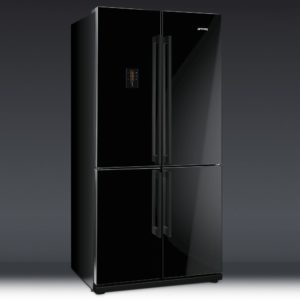 Smeg FQ60NPE French Style Four Door Fridge Freezer Non Ice & Water – BLACK