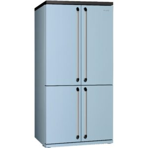 Smeg FQ960PB Victoria French Style Four Door Fridge Freezer Non Ice & Water – PASTEL BLUE