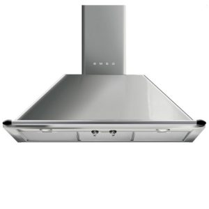 Smeg KTR90XE 90cm Victoria Chimney Hood With Rail – STAINLESS STEEL