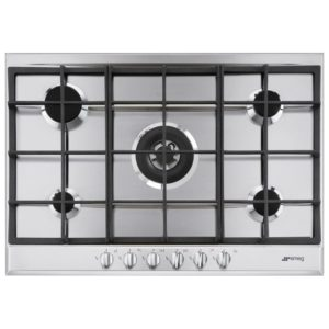 Smeg P272XGH 72cm 5 Burner Gas Hob With Wok Burner – STAINLESS STEEL