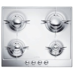 Smeg P64ES 60cm Piano Gas Hob - STAINLESS STEEL