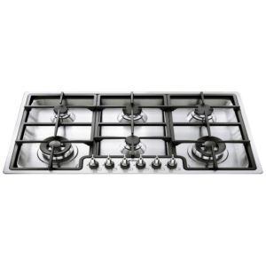 Smeg PGF96 90cm Ultra Low Profile 6 Burner Gas Hob – STAINLESS STEEL