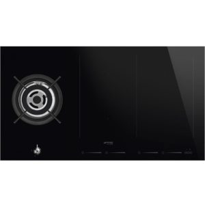 Smeg PM3912WLD 90cm Frameless Mixed Induction And Gas Hob - BLACK