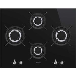 Smeg PV364LCN 65cm Classic 4 Burner Gas On Glass Hob – BLACK