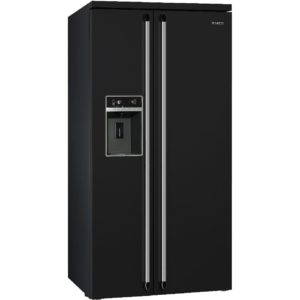 Smeg SBS963N Victoria American Style Fridge Freezer With Ice & Water – BLACK
