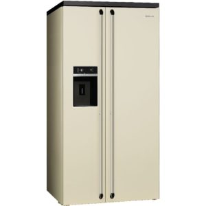 Smeg SBS963P Victoria American Style Fridge Freezer With Ice & Water – CREAM