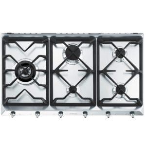 Smeg SE97GXBE5 90cm Classic 5 Burner Gas Hob – STAINLESS STEEL