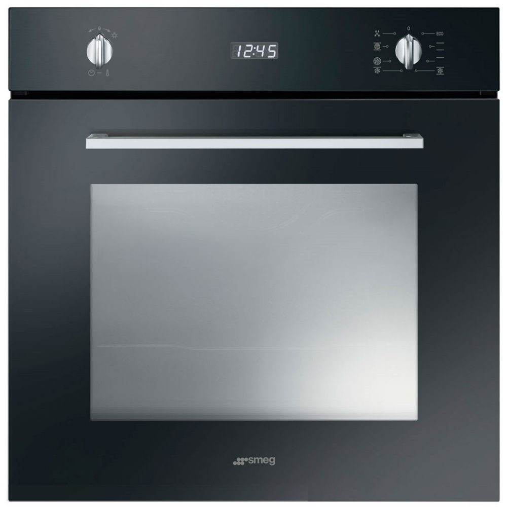 Smeg SF485N Cucina Built In Single Oven - BLACK - Appliance City