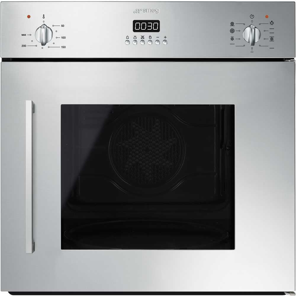 Smeg Sfs409x Cucina Built In Side Opening Single Oven