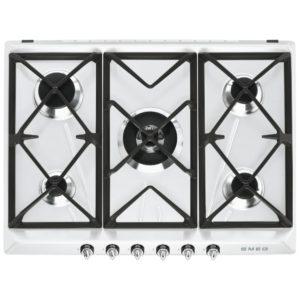 Smeg SR975BGH 70cm Victoria 5 Burner Gas Hob – WHITE