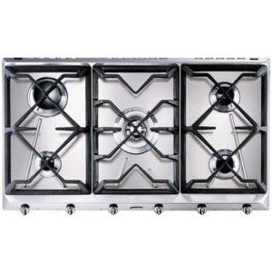 Smeg SRV596GH5 90cm Cucina 5 Burner Gas Hob – STAINLESS STEEL