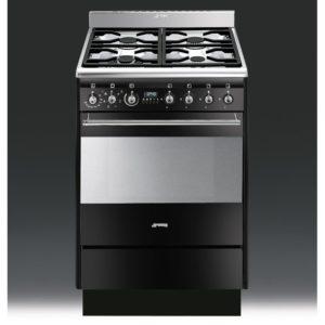 Smeg SUK61MBL8 60cm Freestanding Dual Fuel Cooker – BLACK