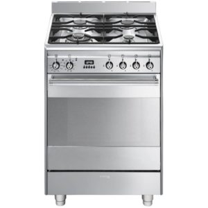 Smeg SUK61PX8 60cm Freestanding Pyrolytic Dual Fuel Cooker – STAINLESS STEEL