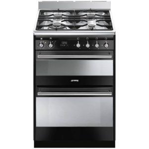 Smeg SUK62MBL8 60cm Freestanding Dual Fuel Cooker – BLACK