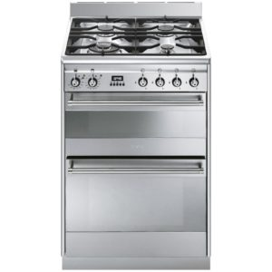 Smeg SUK62MX8 60cm Freestanding Dual Fuel Cooker – STAINLESS STEEL