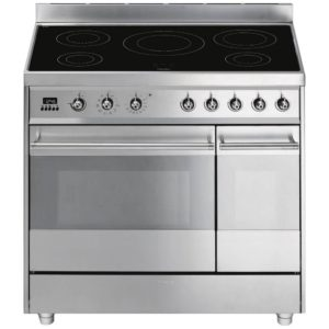 Smeg SY92IPX8 90cm Symphony Pyrolytic Induction Range Cooker - STAINLESS STEEL