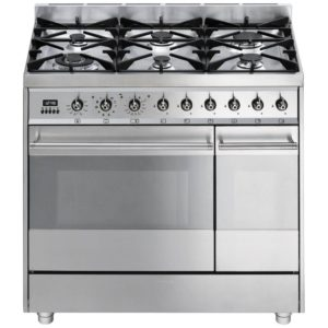 Smeg SY92PX8 90cm Symphony Dual Fuel Pyrolytic Range Cooker – STAINLESS STEEL