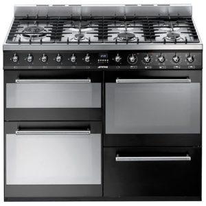 Smeg SYD4110BL 110cm Symphony Dual Fuel Range Cooker – BLACK
