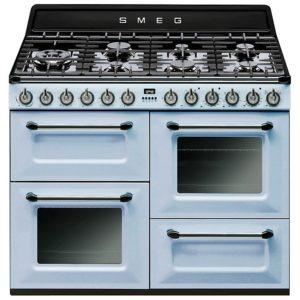 Smeg TR4110AZ 110cm Victoria Dual Fuel Range Cooker – PASTEL BLUE