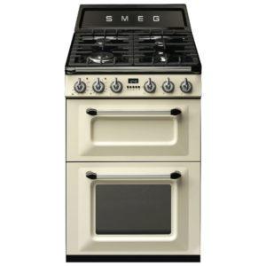 Smeg TR62P 60cm Victoria Freestanding Dual Fuel Cooker - CREAM