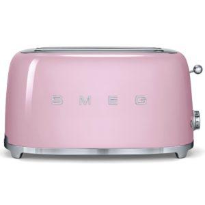 Smeg TSF02PKUK Retro 4 Slice Toaster – PINK