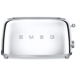 Smeg TSF02SSUK Retro 4 Slice Toaster - CHROME