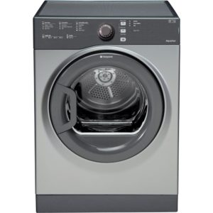 Hotpoint TVFS83CGG 8kg Aquarius Vented Tumble Dryer - GRAPHITE