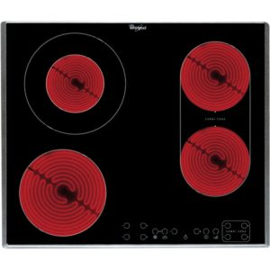 Whirlpool AKT8700IX 58cm 4 Zone Ceramic Hob – STAINLESS STEEL