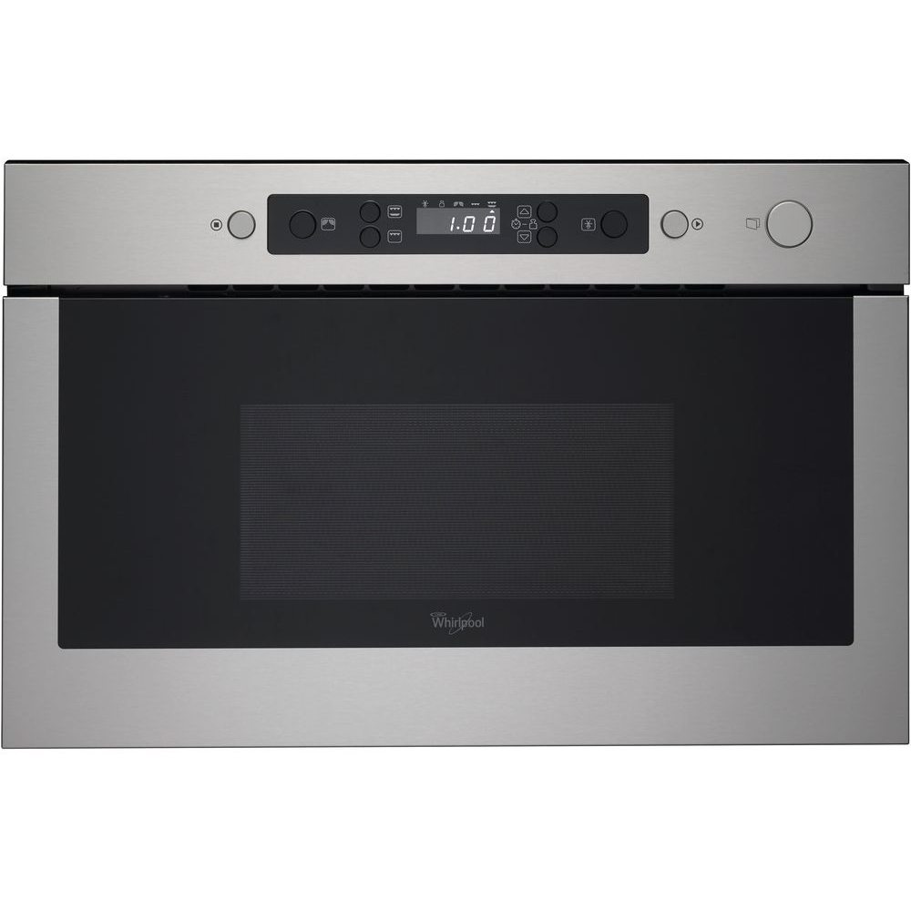 whirlpool amw439ix 60cm built in microwave grill for wall unit stainless steel appliance city. Black Bedroom Furniture Sets. Home Design Ideas