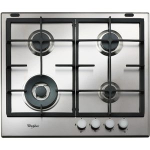 Whirlpool GMA6422IX 59cm Four Burner Gas Hob - STAINLESS STEEL