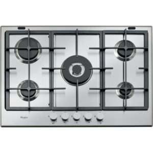 Whirlpool GMA7522IX 73cm Five Burner Gas Hob - STAINLESS STEEL