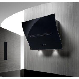 Air Uno BOHEME BLACK GLASS 80cm Decorative Chimney Hood – BLACK