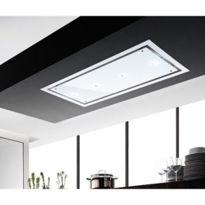 Faber HEAVEN GLASS 2.0 SLIM 120 120cm Ceiling Hood – WHITE