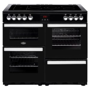 Belling COOKCENTRE 100EBLK 4086 100cm Ceramic Range Cooker - BLACK