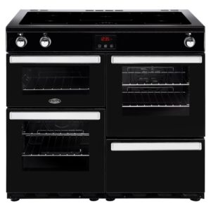 Belling COOKCENTRE 100EIBLK 4092 100cm Induction Range Cooker – BLACK