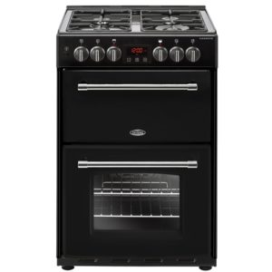 Belling FARMHOUSE 60DFBLK 4714 60cm Freestanding Dual Fuel Cooker – BLACK