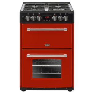 Belling FARMHOUSE 60DFHJA 4715 60cm Freestanding Dual Fuel Cooker – RED
