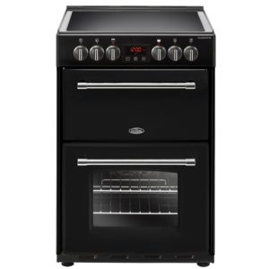 Belling FARMHOUSE 60EBLK 4711 60cm Freestanding Electric Cooker – BLACK