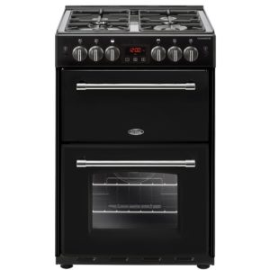Belling FARMHOUSE 60GBLK 4717 60cm Freestanding Gas Cooker – BLACK