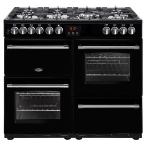 Belling FARMHOUSE 100DFTBLK 4133 100cm Dual Fuel Range Cooker – BLACK