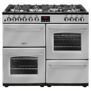 Belling FARMHOUSE 100DFTSIL 4134 100cm Dual Fuel Range Cooker - SILVER