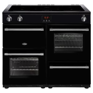 Belling FARMHOUSE 100EIBLK 4142 100cm Induction Range Cooker – BLACK
