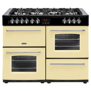 Belling FARMHOUSE 110DFTCRM 4147 110cm Dual Fuel Range Cooker – CREAM