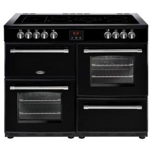 Belling FARMHOUSE 110EBLK 4148 110cm Ceramic Range Cooker – BLACK