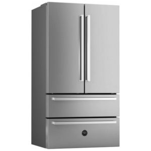 Bertazzoni REF90XP Professional Series French Style Fridge Freezer Non Ice & Water – STAINLESS STEEL