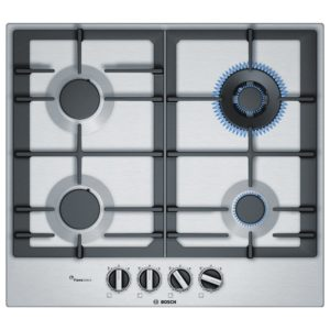 Bosch PCH6A5B90 60cm Serie 6 4 Burner FlameSelect Gas Hob – STAINLESS STEEL