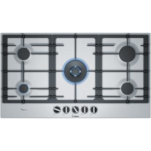 Bosch PCR9A5B90 90cm Serie 6 5 Burner Gas Hob - STAINLESS STEEL