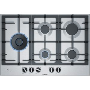 Bosch PCS7A5B90 76cm Serie 6 5 Burner FlameSelect Gas Hob – STAINLESS STEEL