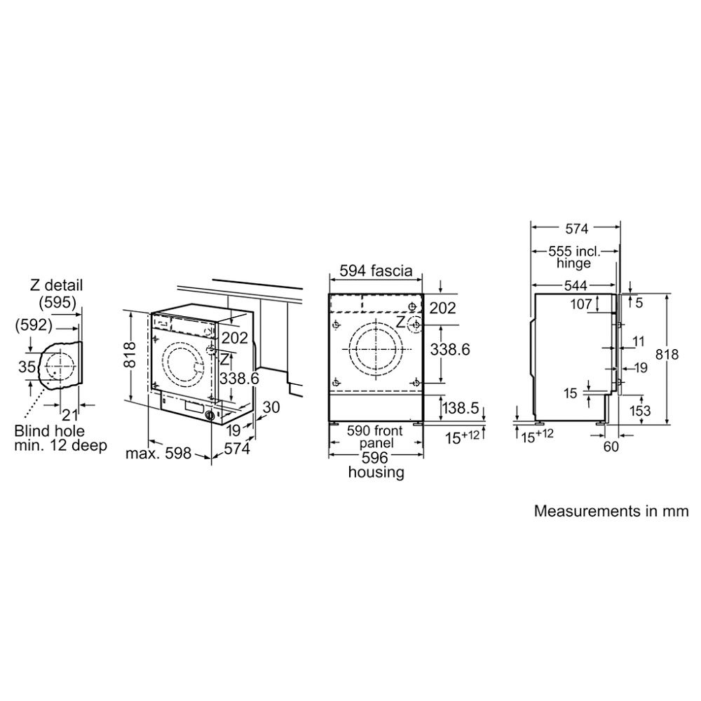 Bosch Wiw28500gb 8kg Serie 8 Fully Integrated Washing Machine Hoover Wiring Diagram Home